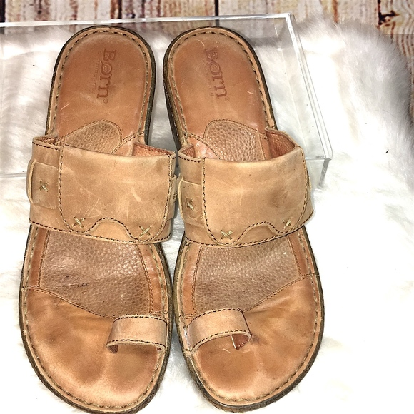6ae8fc0bd486c BORN Shoes - BORN WOMEN S SLIP Sexy Big TOE STRAP SANDALS-TAN-7
